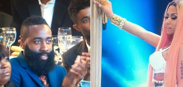 4e9c17e33e6f Harden s thirsty eyes for Nicki Minaj set Twitter on fire - ESPN 97.5
